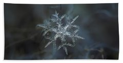 Beach Towel featuring the photograph Snowflake Photo - Rigel by Alexey Kljatov