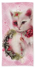 Beach Towel featuring the drawing Love Is In The Air by Sheena Pike