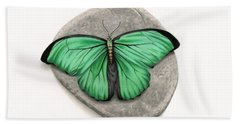 Mito Awareness Butterfly- A Symbol Of Hope Beach Towel