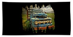 The Blue Classic Ford Truck Beach Towel