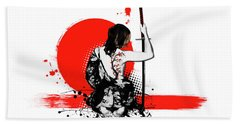 Trash Polka - Female Samurai Beach Towel