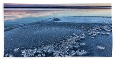 Ice Chunks Beach Towel by Bill Kesler