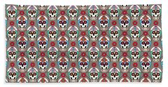 Sugar Skulls Pattern 2 Beach Sheet