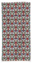 Sugar Skulls Pattern 2 Beach Towel