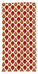 Ladybug Pattern In Orange And Red Beach Sheet