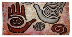 Healing Hands Fresco  Beach Towel