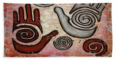 Healing Hands Fresco  Beach Towel