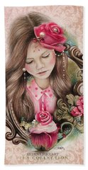 Beach Towel featuring the drawing Make A Wish  by Sheena Pike
