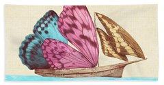 Butterfly Ship Beach Towel