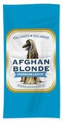 Afghan Blonde Premium Lager Beach Towel