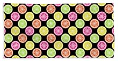 Colorful Citrus Slices Beach Towel