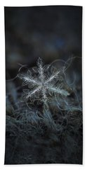 Leaves Of Ice Beach Towel by Alexey Kljatov