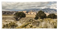 Great Sand Dunes National Park And Preserve Beach Towel by Bill Kesler