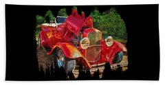 The Red Bell Roadster Beach Towel