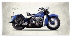 Harley-davidson El 1948 Beach Towel by Mark Rogan