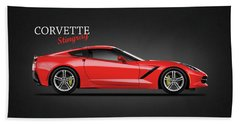 The Red Vette Beach Towel