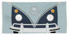 Vw Bus Blue Beach Towel