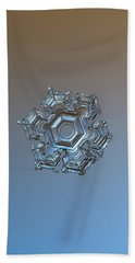 Snowflake Photo - Cold Metal Beach Towel by Alexey Kljatov