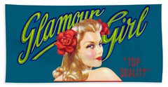 1945 California Glamour Girl  Beach Sheet by Historic Image