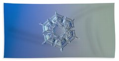 Beach Sheet featuring the photograph Snowflake Photo - Ice Relief by Alexey Kljatov