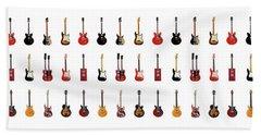 Guitar Icons No1 Beach Towel