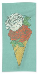 Rose Ice Cream Beach Towel