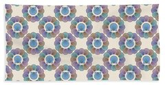 Beach Towel featuring the digital art Scallop Shells Circle Multi Color by MM Anderson