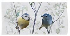 Birds In Tree Beach Towel