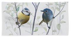 Birds In Tree Beach Towel by Ivana