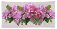 Pink Blossoms Beach Sheet