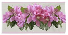 Beach Towel featuring the painting Pink Blossoms by Ivana Westin