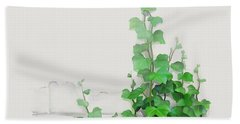 Vines By The Wall Beach Towel