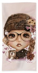 Beach Towel featuring the drawing Java Joanna by Sheena Pike