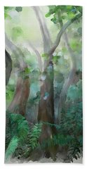 Beach Towel featuring the painting Jungle by Ivana Westin