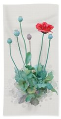 Beach Towel featuring the painting Poppy by Ivana Westin
