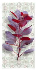Beach Towel featuring the painting Royal Purple by Ivana Westin