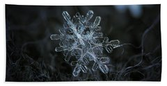 Beach Towel featuring the photograph Snowflake Of January 18 2013 by Alexey Kljatov