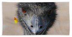 Happy Emu Beach Towel