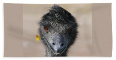 Beach Towel featuring the photograph Happy Emu by Ivana Westin