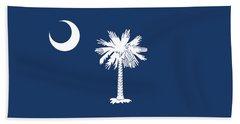 Flag Of South Carolina Authentic Version Beach Towel