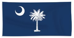 Flag Of South Carolina Authentic Version Beach Sheet