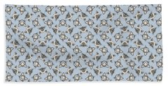 Siamese Cat Face With Blue Eyes Light Beach Towel