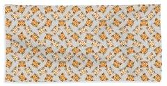 Cute Orange Tabby Cat Face Beach Sheet