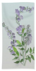 Purple Tiny Flowers Beach Sheet