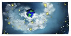 The World In His Hands Beach Towel