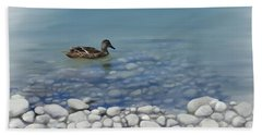 Beach Towel featuring the painting Clear Water  by Ivana Westin