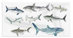 Sharks - Landscape Format Beach Towel