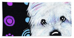 Kiniart Disco Westie Beach Towel