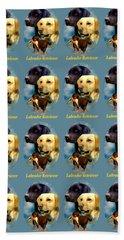 Labrador Retriever With Name Logo Beach Sheet