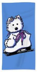 Westie Skater Girl Beach Towel